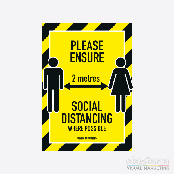 A4 Strut Card for Social Distancing
