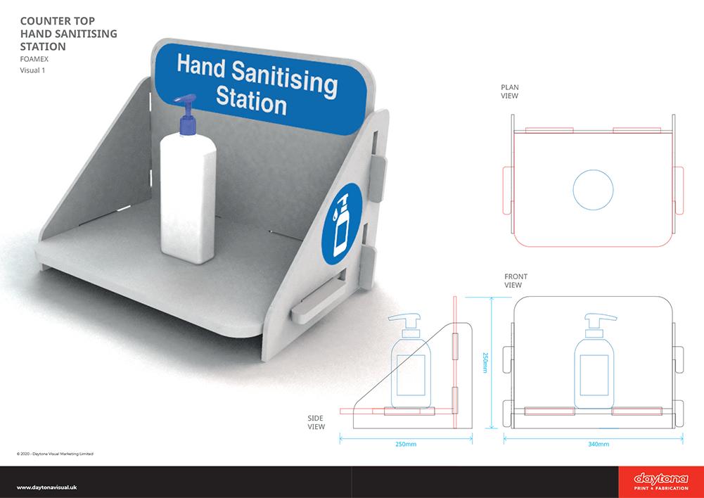 Counter Top Hand Sanitiser Station