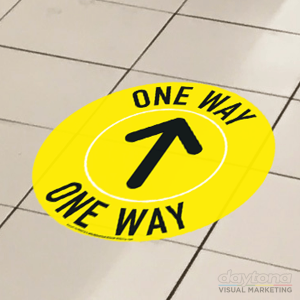 One Way Floor Vinyl Sticker Disc