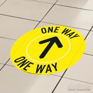 One Way Floor Vinyl Sticker Disc