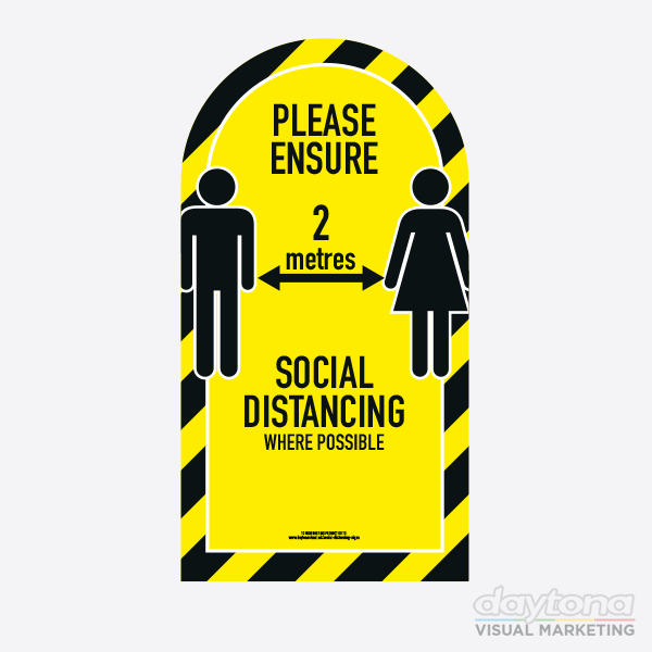 Social Distancing Pavement Sign