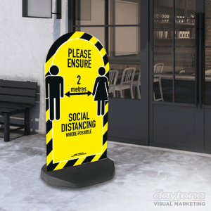 Social Distancing Pavement Sign Arch