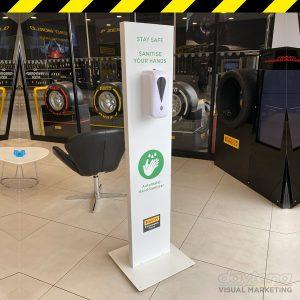 auto hand sanitising dispenser station