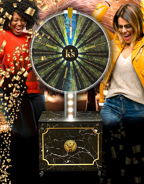 custom Illuminated wheel of fortune