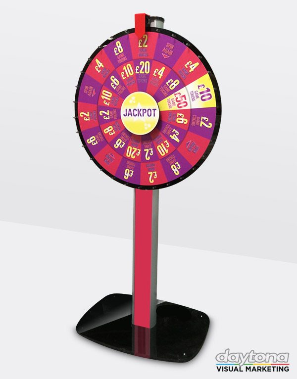 Custom branded wheel of fortune