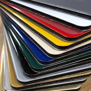 Image showing dibond aluminium composit material acm colours