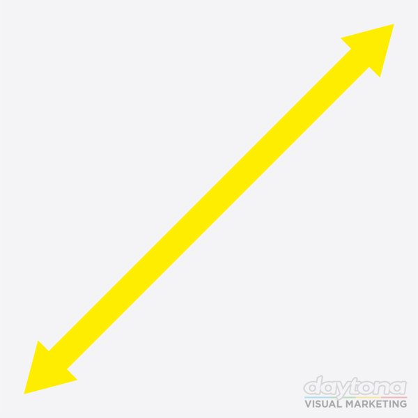 floor sticker arrow markers 2mtr yellow