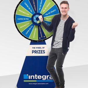 Custom wheel of fortune made for Integra