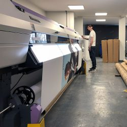 mimaki ujv55 printing tension fabric