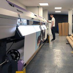 mimaki ujv55 printing tension fabric