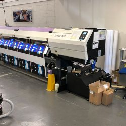 Mimaki UJV55 printing tension fabric graphics